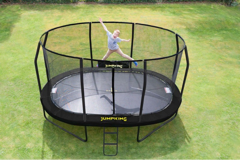 JumpKing 14ft x 17ft Oval JumpPod Trampoline