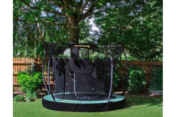 JumpKing 14ft InGround Deluxe Trampoline with Enclosure