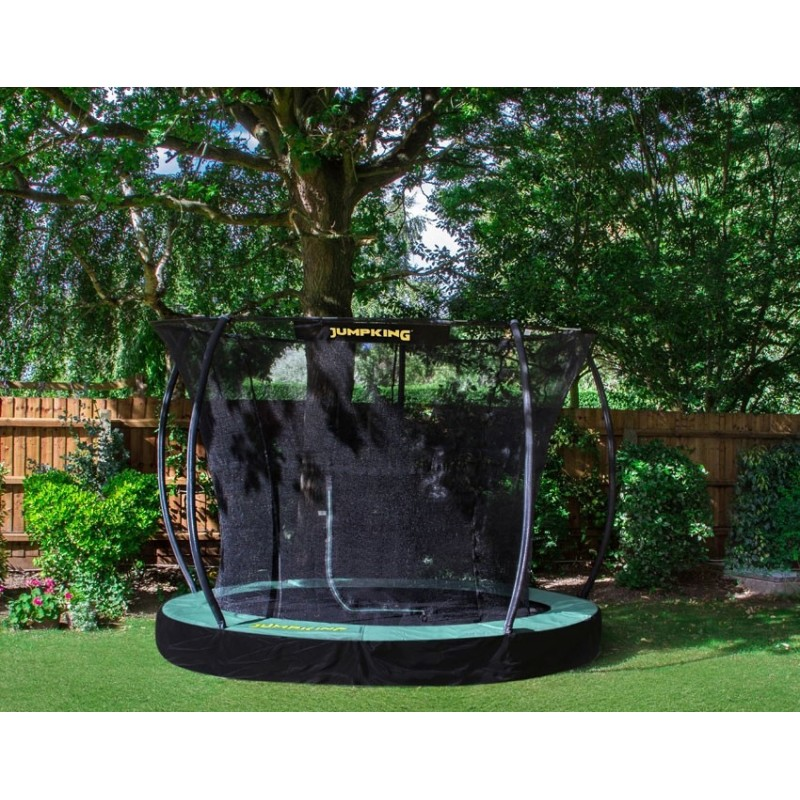 JumpKing 12ft InGround Deluxe Trampoline with Enclosure