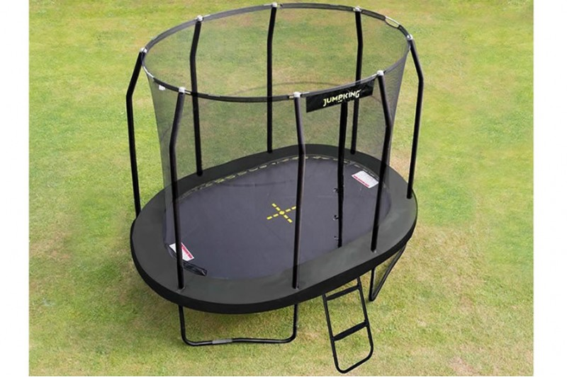 JumpKing 8ft x 11.5ft Oval JumpPod Trampoline