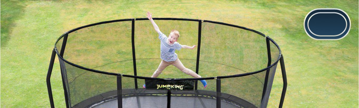 Oval shape Premium Trampolines for sale online