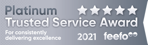 Award Winning Customer Service Winners again 2021 from Feefo verified reviews